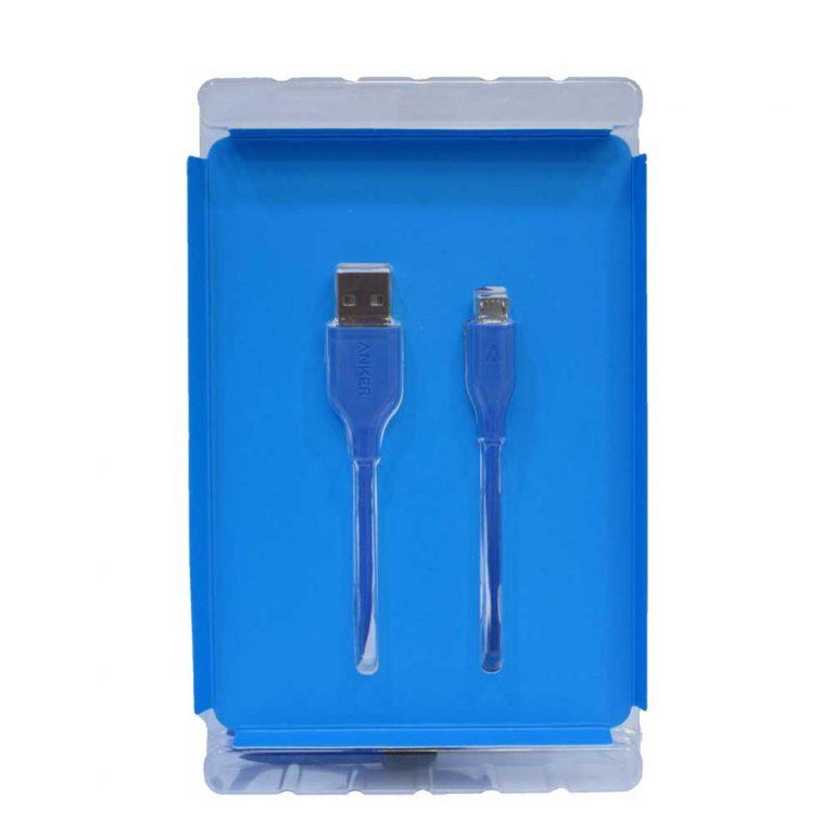 کابل تبدیل USB به microUSB انکر مدل A8133 طول 1.8 متر
